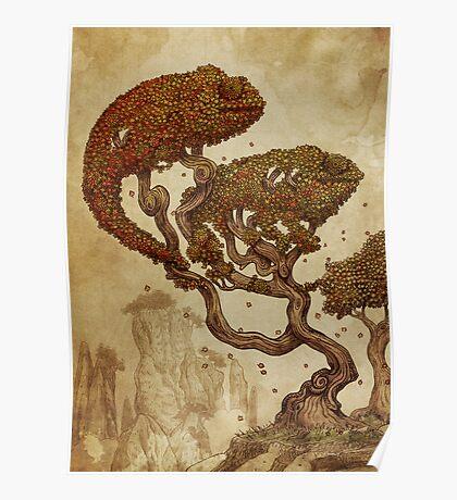 Autumn Chameleons Poster