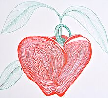 Apple in Ink by Christine Chase Cooper