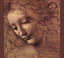 Female head (La Scapigliata) by Janine Whitling