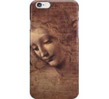 Female head (La Scapigliata) iPhone Case/Skin