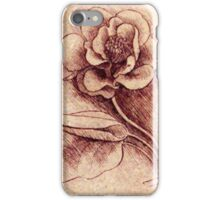 Leonardo's flower drawing iPhone Case/Skin