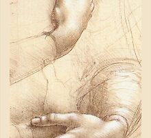 Study of a womans hand by Leonardo by Janine Whitling