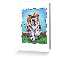 Animal Parade St. Bernard Greeting Card