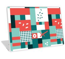 Modern hand draw colorful abstract seamless pattern  Laptop Skin
