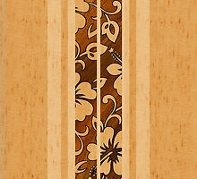 Pupukea Hawaiian Faux Koa Wood Surfboard  by DriveIndustries
