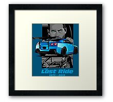 Paul Walker 02 Framed Print