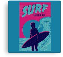 Point Break Latigo Beach Surfing Canvas Print