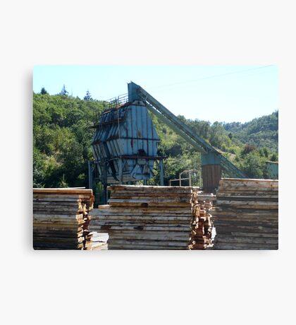Lumberyard Metal Print