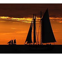 Tall Ships at Sunset II Photographic Print