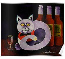 Cat-alocholic bar Cat Poster