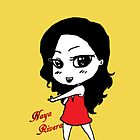 Naya Rivera Chibi (Gold) by LexyDC