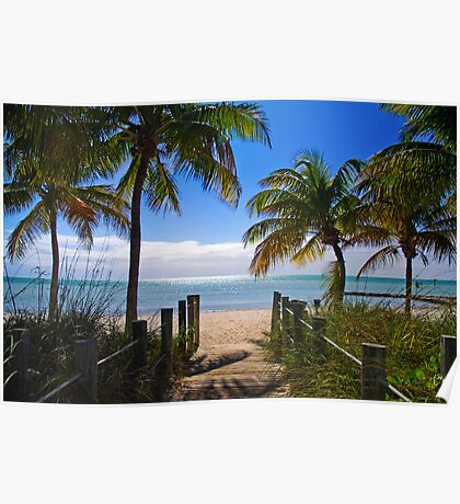 Smathers Beach, Key West Poster