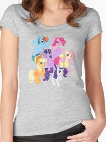 My Little Pony Group Women's Fitted Scoop T-Shirt