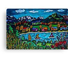 Mountain Sail Canvas Print