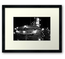 Christmas Tractor Framed Print