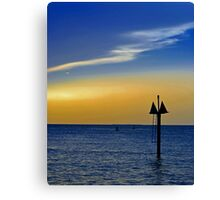 Sunset on the Key West bight Canvas Print