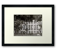 Fence of Yesterday Framed Print