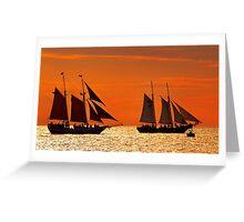 Sunset Cruise II Greeting Card