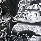 Charcoal Still-Life by Katrina Heilhecker