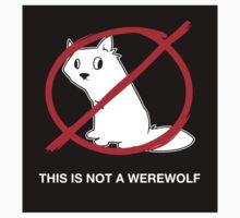 A Regular Wolf is Not a Werewolf (Sticker) by ArgyleWerewolf