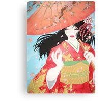 Spring Geisha Canvas Print