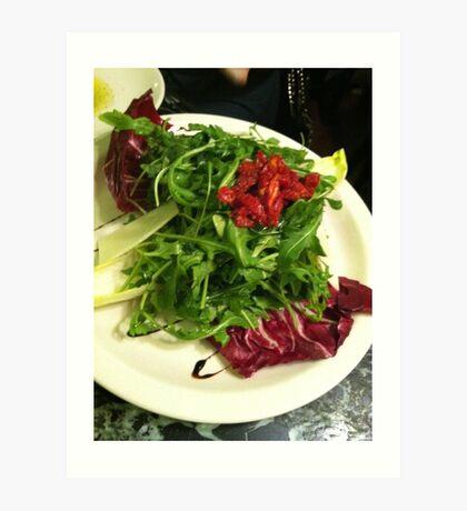 Arugula Salad Art Print