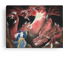 Wizard Fight Canvas Print