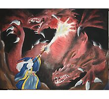 Wizard Fight Photographic Print