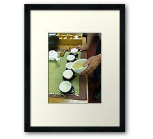Korean Tea Party Framed Print