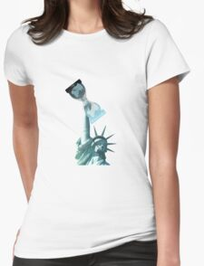 WikiLeaks Liberty Womens Fitted T-Shirt