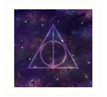Deathly Hallows in Space Art Print