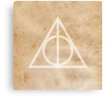Deathly Hallows on Parchment Canvas Print