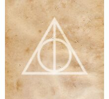 Deathly Hallows on Parchment Photographic Print