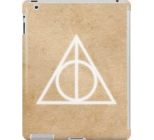 Deathly Hallows on Parchment iPad Case/Skin