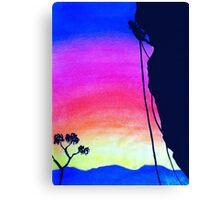 Sunset Rock-Climbing Canvas Print