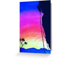 Sunset Rock-Climbing Greeting Card