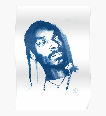 Snoop Doggy Dogg - Pencil Portrait Poster