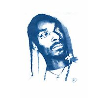 Snoop Doggy Dogg - Pencil Portrait Photographic Print