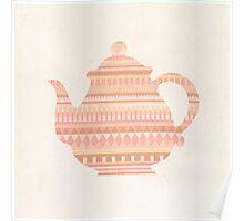 The Peach Teapot Poster