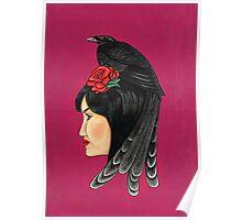 Raven Haired Girl Poster