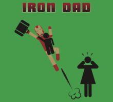 Iron Dad flying Kids Tee