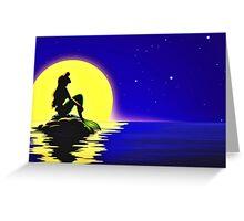 Ariel Sitting on a Rock Greeting Card