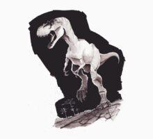 Sprinting Gorgosaurus libratus (Sepia) Kids Clothes