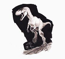 Sprinting Gorgosaurus libratus (Sepia) Womens Fitted T-Shirt