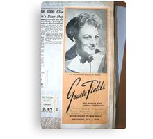"""Day 180   365 Day Creative Project  """"Gracie Fields"""" Metal Print"""