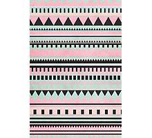 Pastel Aztec Pattern Photographic Print