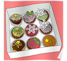 Christmas Cup Cakes Poster