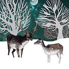 Two reindeer by Susan Craig