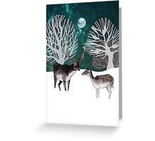 Two reindeer Greeting Card