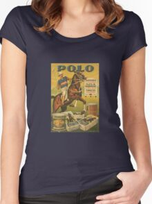 Vintage polo sports horse advertise Women's Fitted Scoop T-Shirt